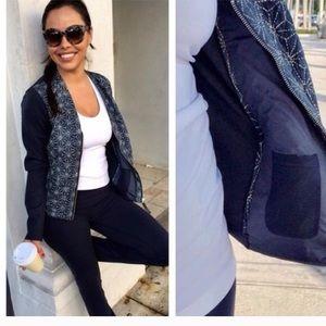 Lululemon Cardigan and Again Blue Zip Up Jacket 2